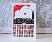 Revolutionary Norwich City Hall Greetings Card