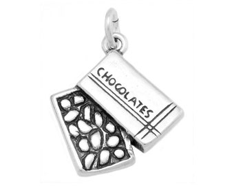 Sterling Silver Box of Chocolates Charm (One Sided Charm)