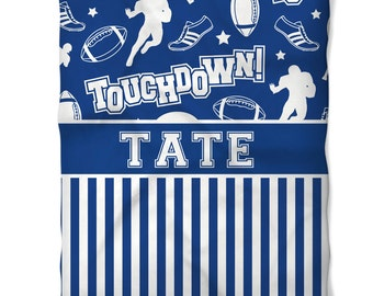 Personalized Football Fleece Blanket - Any Color