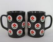 Vintage Coffee Mugs by Otagiri - set of two - made in Japan