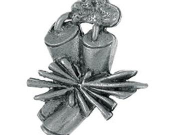 Dynamite Lapel Pin - CC567- Explosive, Explosion, Dynamite, Gun Powder- Alfred Nobel