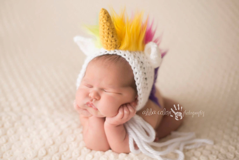 unicorn baby bonnet animal hat animal bonnet thingy