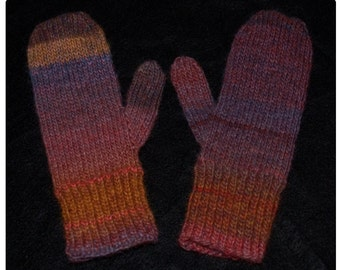Hand Knit Woodhaven Mittens