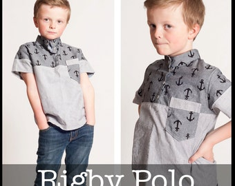 Rigby Polo PDF Sewing Pattern