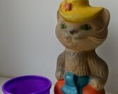 vintage Soviet rubber toy - Cat