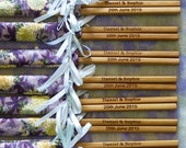 For Ellefroz: Engraved Chopsticks Wedding Favors with Personalised Engraving Services (175 pairs)