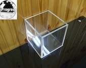 Lidless Open Cube Clear Acrylic Box
