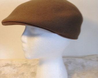 Vintage Brown Wool Drivers Cap Country Gentlemen London Made in USA