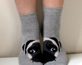 Boot Socks Women Men Socks Leg Warmer Pug Socks Christmas Socks Funny Socks Animal Socks Dog Socks Ladies Casual Cotton Socks Ankle Socks