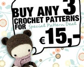 3 lalylala crochet patterns for 15,- Euro SPECIAL DEAL