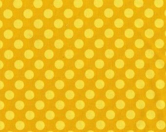 Ta Dot by Michael Miller - Mustard - 1/2 yard cotton quilt fabric 516