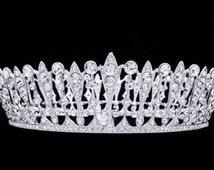 Pageant Wedding Bridal Tiara Crown Swarovski Crystal Fit Allergic Skin SHA8697 …