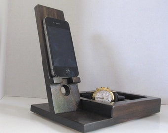 Iphone Dock  with Valet Tray, Catchall