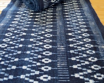Hmong cotton-Indigo Batik fabric, textiles and fabrics- From Thailand-Table runner,