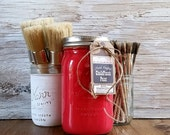 Handmade ChalkFinish Paint, Red, Painted Furniture, Chalk Paint, Shabby Chic Furniture, Chalk Painted Furniture, Painted  Mason  Jars, Wax