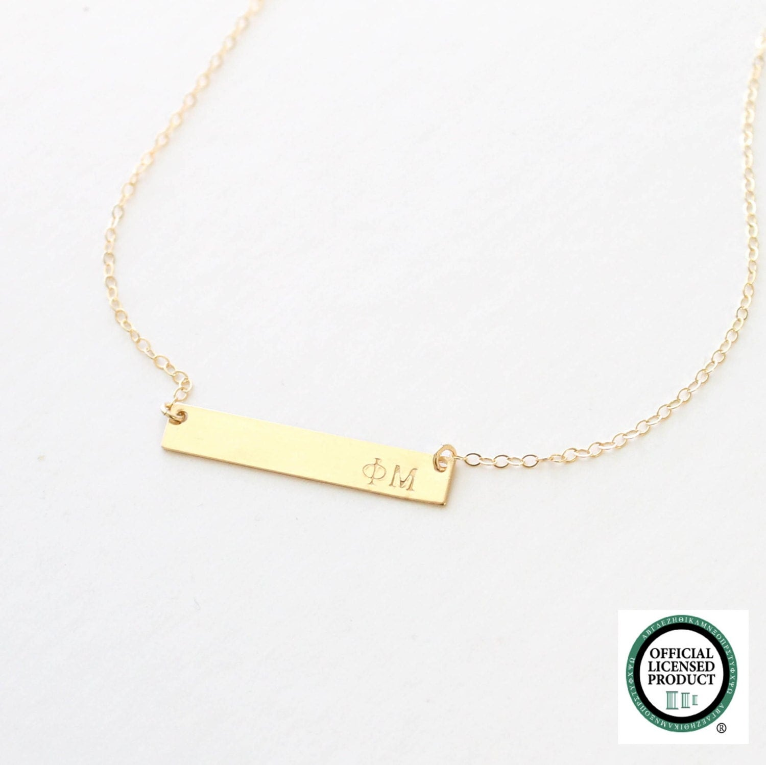 phi mu sorority necklace official licensed by
