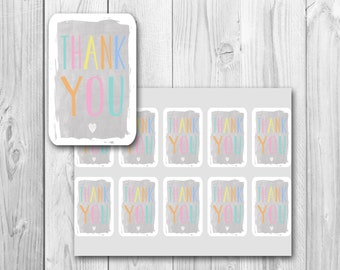 Thank you tags, baby shower gift tags, printable gift tags, instant download