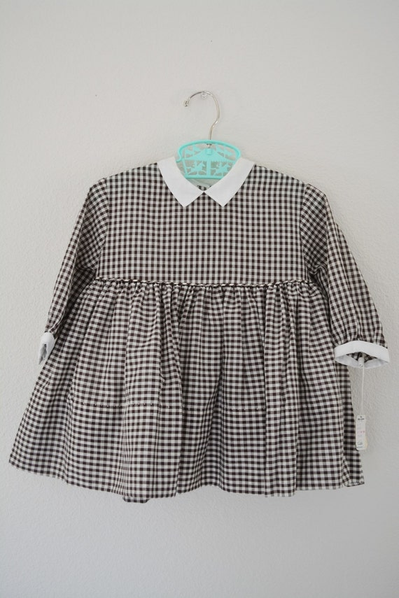 Vintage Girls Dress // 1950s Gingham Frock// Suzy Brooks