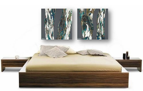 Extra large diptych dining room wall art huge by shoagallery for Big dining room wall art