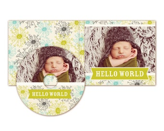 INSTANT DOWNLOAD  - Cd/Dvd Label and cover templates - E319