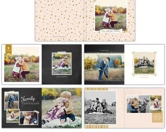 12x12 Family Album template - Free spirits - E754