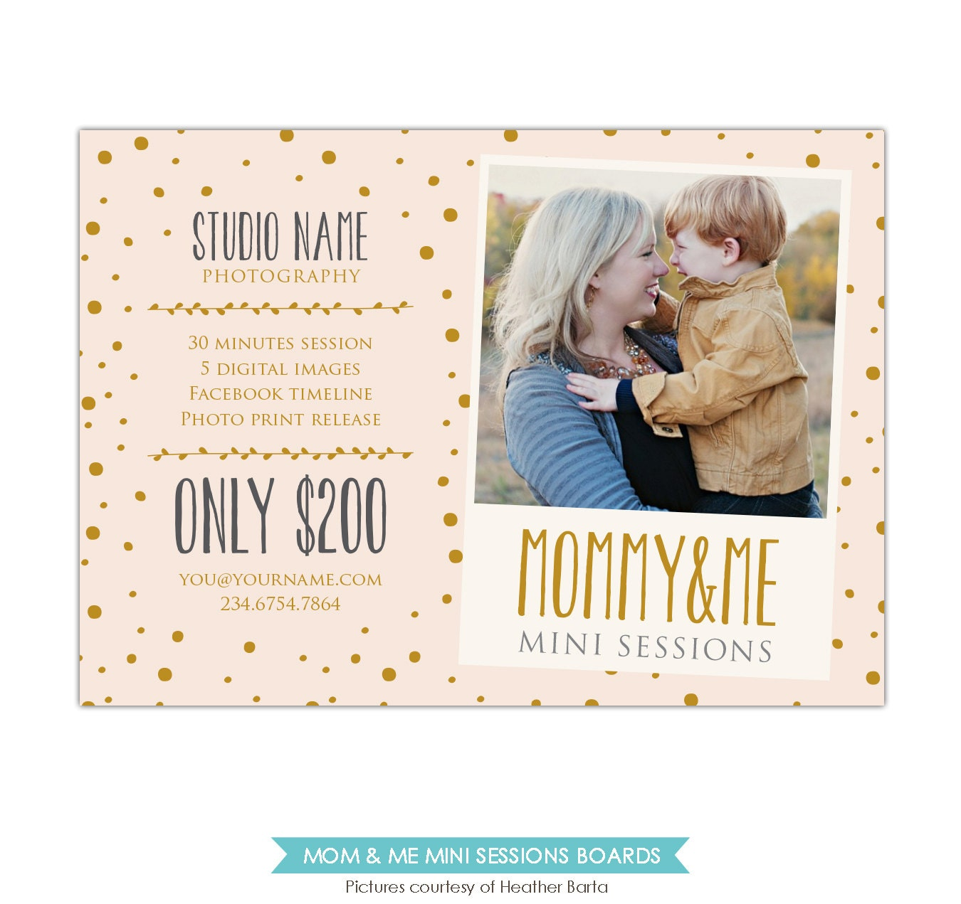 Mother's Day Mini Session Template PSD Newsletter