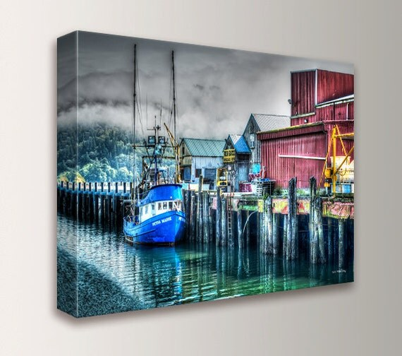 "Art, Photography, Canvas Print, Wall Art, Nature Photography, Ocean Print, Nautical Art, Sea, Coastal Art "" Harbor 4 """