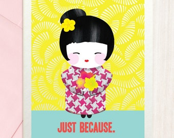 Just Because - Thank You Card
