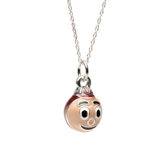 ohio state brutus the buckeye necklace
