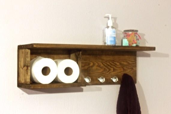 items similar to wood bathroom shelf towel rack bathroom