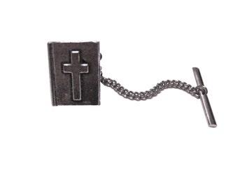 Religious Bible Tie Tack