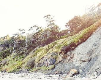 Oregon Beach Photography - Cannon Beach - Beach Photo - Oregon Photo - Fine Art Photograph - Oregon Coast - White Green Blue Home Decor