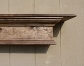 "Natural Walnut Wood, 48""L Mantle, Floating Shelf, Wall Hanging, Fireplace Mantel, Wood Shelf, Wood Fireplace Mantel"