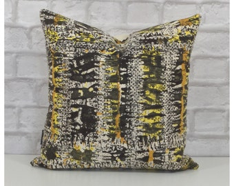 "Cushion Cover Original 1950s Vintage Abstract Fabric 16"" x 16"" Mid Century Throw Pillow"