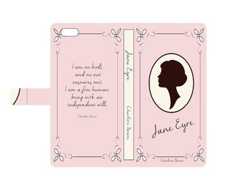 Book phone /iPhone flip Wallet case- Jane Eyre for iPhone 6, 6 plus, 5, 5s, 5c, iPhone 4, 4s- Samsung Galaxy S6 S5 S4 S3, Note 3, 4