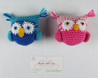 Mini owls in crochet