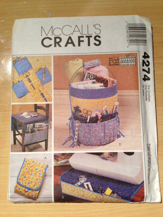 McCalls Crafts Pattern 4274 Fat Quarters Sewing Accessories