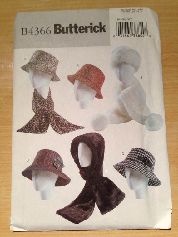 Butterick Sewing Pattern 4366 Misses Hats