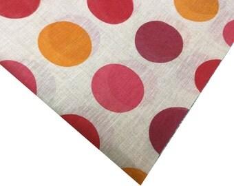 Big Polka Dot - Light Weight Chanderi Fabric Remnant