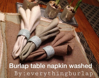 Burlap table napkin