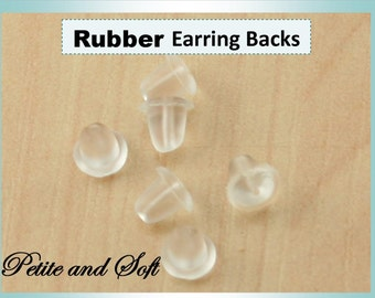 1000 - Bulk Wholesale - Rubber Earring Backs No Nickel, Lead Safe, Non Allergenic, Hypoallergenic