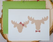 SALE - Mary Chris Moose Holiday Card