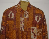 SOLD - RESERVED FOR David  -  Vintage Hawaiian Hang Ten Jacket - Reversible