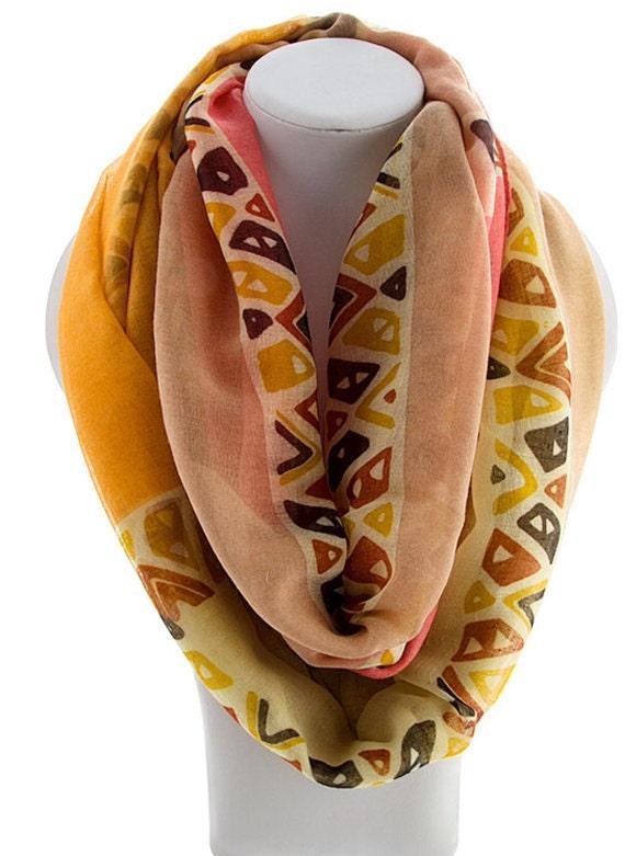 unique scarves orange infinity scarf gift for teachers