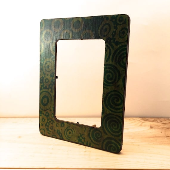 4 x 6 picture frame green paper frame vintage style for Bungalow style picture frames