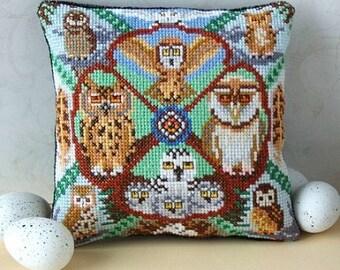 A Study of Owls Mini Cushion Cross Stitch Kit