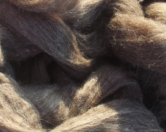 Dark Brown Coopworth Roving 8 oz