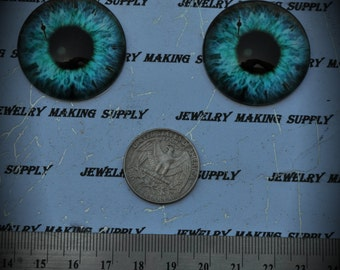 Large 35mm Iris Cat Eye Glass Cabochon Y325