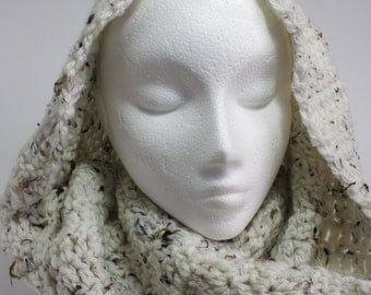 Oatmeal large infinity scarf,