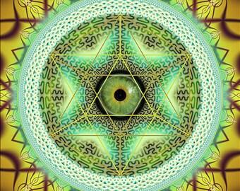Nao, Original Mandala , Spiritual, Psy, Shamanic, Ayahusaca Art, printed on archival photopaper